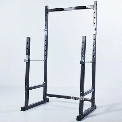 $ CDN482.09 • Buy Half Frame Squat Barbell Rack Indoor Fitness Pull Up Weightlifting Bed Bench