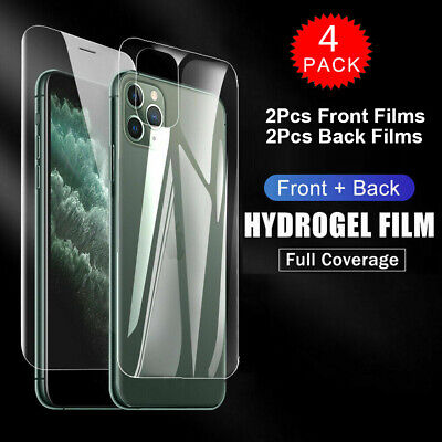 AU4.99 • Buy 2x Front +2x Back Hydrogel Screen Protector Film For IPhone 12 11 XS Pro Max 8