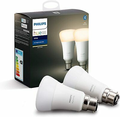 AU45.06 • Buy Philips Hue Smart Bulb B22, Synthetic, 9 W, 60W Equivalent [Energy Class A+]