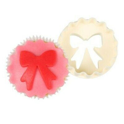 FMM Cutter Cup Cake Bow Scallop Cake Cutting Tool Icing Fondant Paste Decoration • 5.49£