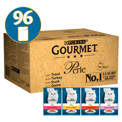 Gourmet Perle Country Medley In Jelly Wet Cat Food Pouches - 96 X 85g • 42.51£