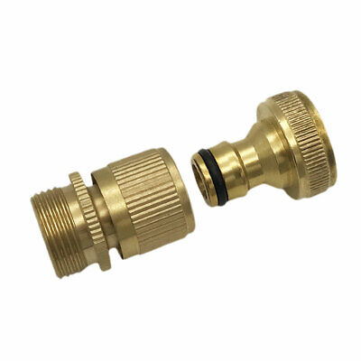 3/4 Inch Garden Hose Quick Connector Brass Easy Connect Fitting Water Hose BG03 • 7.89£