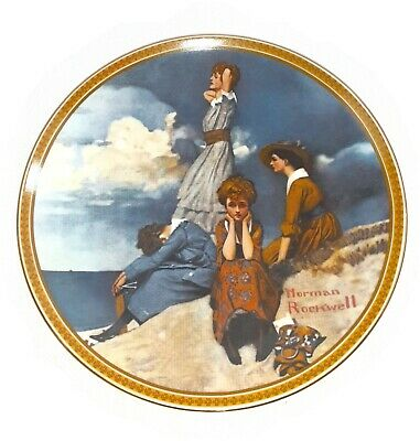 $ CDN22.55 • Buy Norman Rockwell's Rediscovered Women WAITING ON THE SHORE Plate Knowles 2ndIssue