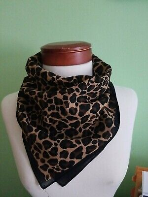$6.99 • Buy Rockabilly Black Brown Leopard Print Stars Chemo Wrap Doo Rag Dog Bandana Mask