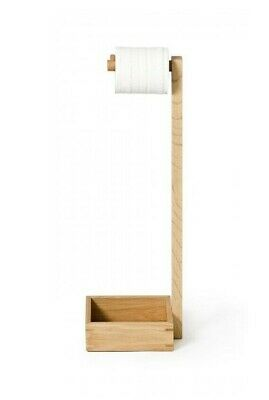 AU22.44 • Buy Bamboo Wooden Toilet Paper Tissue Roll Holder Storage Stand Free Standing Bath