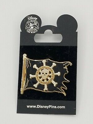 Pirates Of The Caribbean 3D Spinner Disney Pin Pirate Flag Spinning Ship Wheel  • 10£