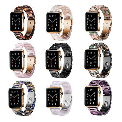 AU26.99 • Buy Luxury Resin Link Band Strap For Apple Watch SE Series 6 5 4 3 2 38/42/40/44mm