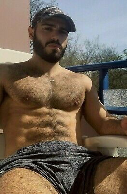 $ CDN5.06 • Buy Shirtless Male Beefcake Muscular Hairy Chest Abs Bearded Hot Man PHOTO 4X6 G1932