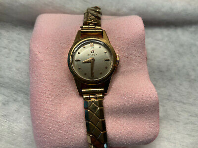 Vintage Ladies Omega 18ct Gold Wrist Watch Cal 480 • 330£