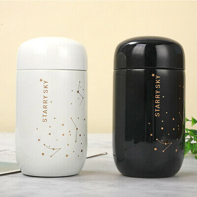 AU19.63 • Buy Portable Thermos Coffee Mug Starry Small Capacity Mini Cup Vacuum Flask Bottle