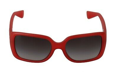 AU213.58 • Buy DOLCE & GABBANA Sunglasses Red Solid DG6093 Silver Logo Rectangle