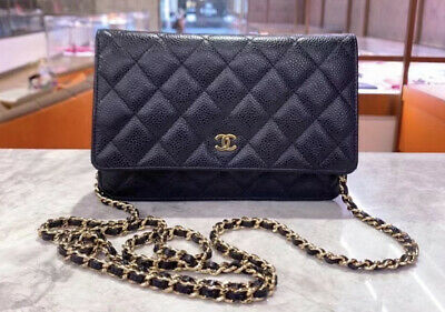 AU3100 • Buy Chanel Wallet On Chain WOC With Gold Hardware - 100% Authentic