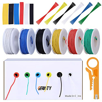 22AWG Electronics Wire Kit, Jumper Wire Hook Up Wire Kit Flexible Silicone Wire • 21.84£