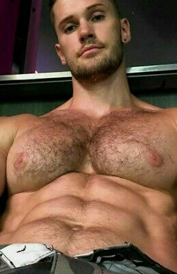 $ CDN4.68 • Buy Masculine Shirtless Hairy Chest Huge Pecs Bearded Stud Beefcake PHOTO 4X6 G1908