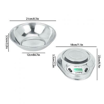 £14.96 • Buy Digital Kitchen Scale Stainless Steel Cooking Food Weighing Scale With Bowl