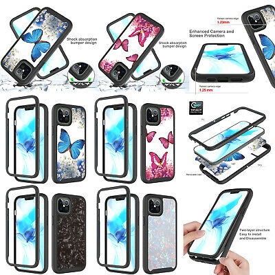 AU7.68 • Buy Butterfly 3in1 Protective Case For Iphone 12 11 Pro Max 8 SE2020 Touch 5 6 7