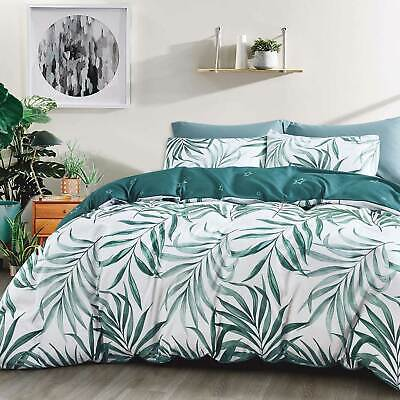 AU39 • Buy Tropical Quilt Cover Green Palm Fern Leaf Doona Cover Set / Cushion Cover
