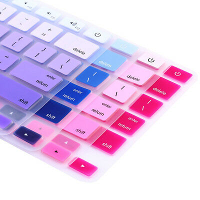 Rainbow Silicone Keyboard Case Cover Skin Protector For IMac MacbookPro13 15RS$j • 2.24£