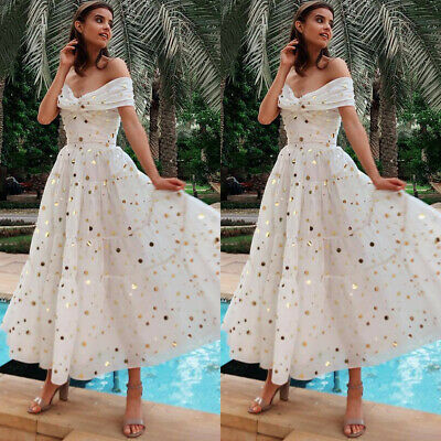 Women Maxi Formal Prom Ball Gown Evening Cocktail Wedding Bridesmaid Dress • 16.73£