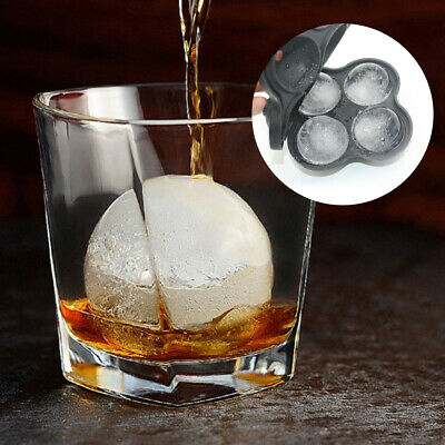 Ice Cube Large Jumbo DIY Mould Sphere Ball Silicone Maker Mold Square Tray Ball • 5.99£