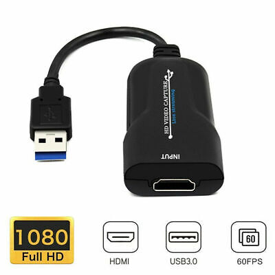 HDMI To USB 3.0 Port Video Capture Card 4K 1080P 60fps Record For Live Streaming • 7.46£