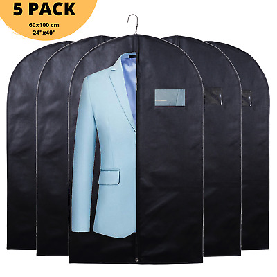 £4.99 • Buy 40  Black 5x Pack Suit Cover Clothes Bag Breathable Garment Travel Storage Bags