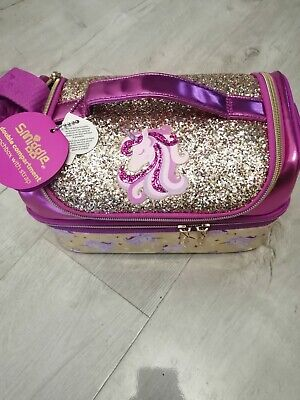 $ CDN26.44 • Buy  Smiggle Double Decker Lunch Bag/box Girls Gold Sparkling Unicorn