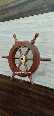 £49.50 • Buy Collectible Nautical Wooden Ship Steering Wheel Pirate Wall Decor