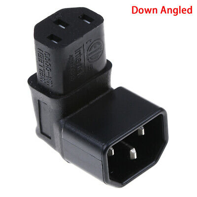 Down Angled IEC Adapter,right Angled IEC 320 C14 To C13 For TV Wall MountS JFSM • 6.72£