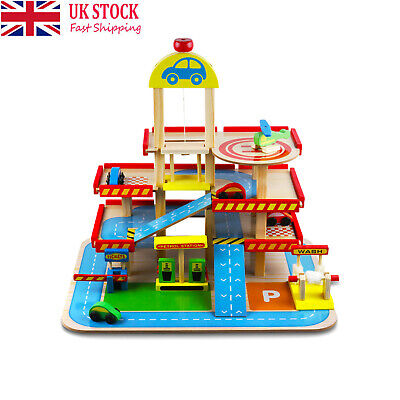£37.90 • Buy 3-Layer Wooden Car Garage Toy Simulation Car Park Kid's Playset Educational Toy