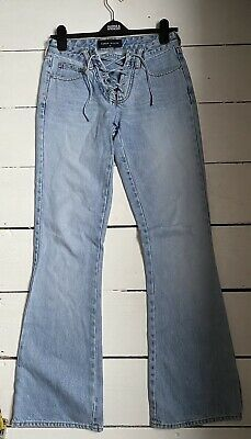 Y2k Lace Up Jeans Flare Bootcut Size 8 • 12£