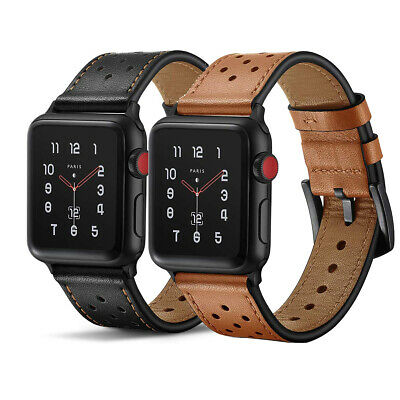 AU19.99 • Buy Premium Genuine Leather Watch Band Strap For Apple Watch Series 6 SE 5 4 3 2 1