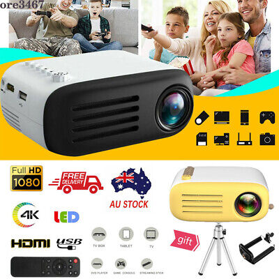 AU68.99 • Buy 4K Portable Pocket Projector 7000 Lumens HD1080P LED Home Theater Video HDMI USB
