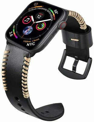 AU19.99 • Buy 40/44mm 38/42mm Genuine Leather Band Strap For Apple Watch Series 6 SE 5 4 3 2