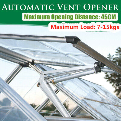 Automatic Vent Opener Greenhouse Window Roof Replacement Temperature Control UK • 20.53£
