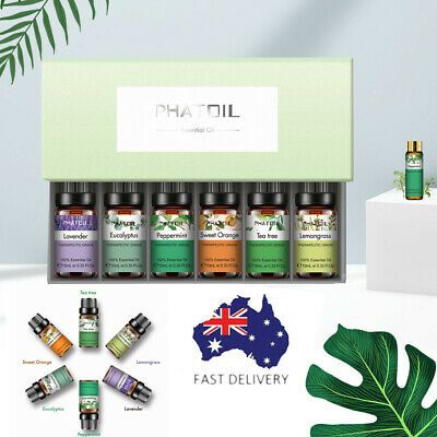 AU19.98 • Buy PHATOIL Essential Oil 6/Set Aromatherapy Gift Pack 100% Pure Oils For Diffusers