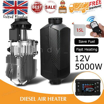 15L 5KW 12V Air Diesel Heater LCD Monitor Remote Motorhome Boats Car Bus UK • 83.99£