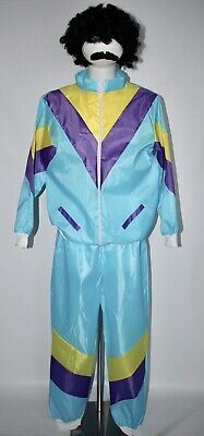 Mens Shell Suit Costume 80's Scouser Tracksuit Fancy Dress Outfit XL • 19.99£