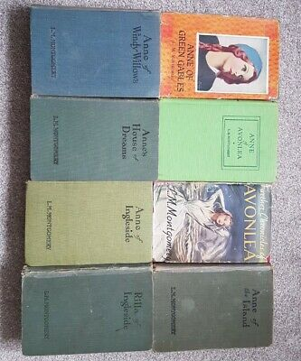 L.M. Montgomery Books, Set Of Anne Of Green Gables Books 1940 Print  • 12.50£