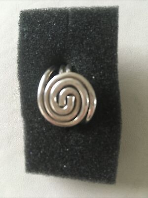 Silver 925 Ring Size Approx M Ladies 6grams Spiral Design Worn Once VGC • 6.50£