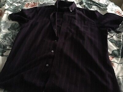 Mens Bhs Atlantic Bay Short Sleeved Shirt Size L • 0.99£