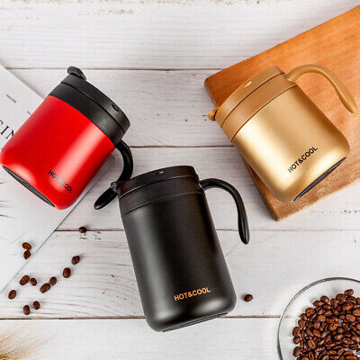 AU26.16 • Buy 350/500ml Thermos Double Wall Stainless Steel Vacuum Flask Insulated Coffee Cups