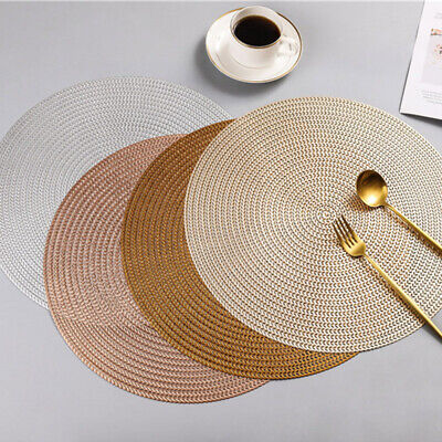 AU27.82 • Buy 4/6/8x Pvc Insulated Washable Dining Table Wedding Party Place Mat Placemats