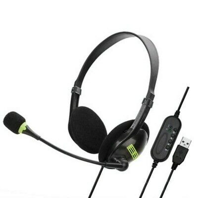 AU12.99 • Buy USB Gaming HeadsetPC Laptop Noise Cancelling Gaming Headphones With Microphone