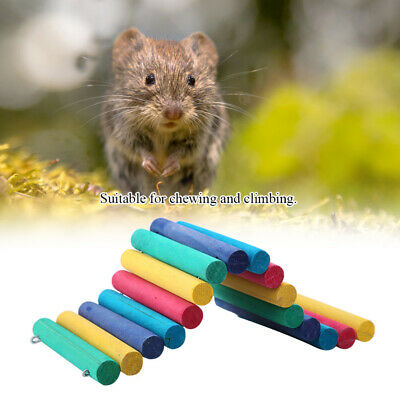 Wooden Ladder Bridge Hamster Mouse Rat Rodents Toy Small Animal Chew Playing Toy • 5.98£
