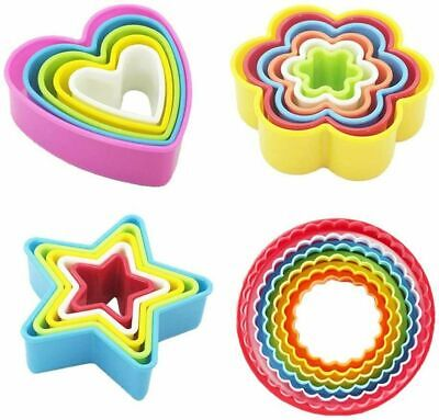 5/6Pack Cookie Scone Cutters Edge Crinkle Round Cake Sugarcraft Pastry Bake Set~ • 1.99£