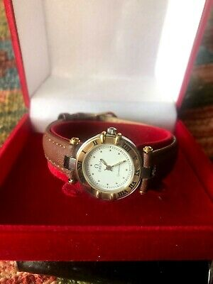 Vintage Ladies Omega Constellation 18ct Gold & S/steel Quartz G.w.o • 395£