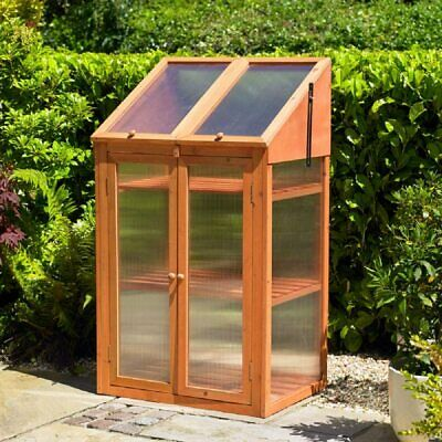 £88.99 • Buy Large 3 Tier Wood Wooden Transparent Greenhouse Cold Frame Plants Flower Growth