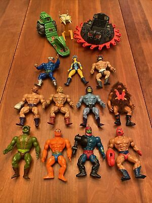 $49 • Buy Lot Of 14 He-Man Action Figures & Vehicles, Vintage Masters Of The Universe