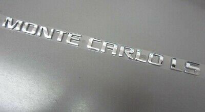 $9.99 • Buy Chevy Monte Carlo LS Trunk Rear Chrome Emblem Name Plate Badge OEM GM # 15270303